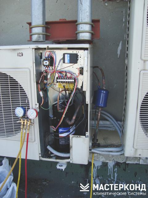 Замена компрессора кондиционера Mitsubishi Heavy